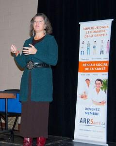 Galina Husaruk au congrès de l'ARRS, novembre 2011